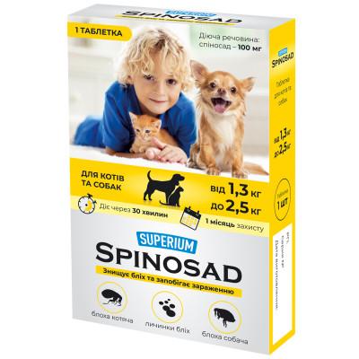SUPERIUM Spinosad таблетка от блох для котов и собак от 1,3 до 2,5 кг