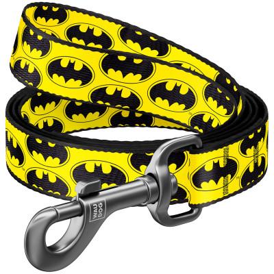 """Нейлоновый поводок для собак WAUDOG Nylon с рисунком """"Бэтмен Лого"""""""