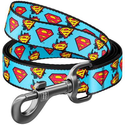"""Нейлоновый поводок для собак WAUDOG Nylon с рисунком """"Супермен"""""""