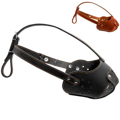 Кожаный намордник для собак КОЛЛАР (бультерьер)
