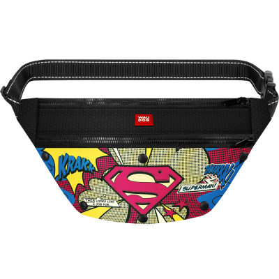 Поясная сумка-бананка WAUDOG с рисунком «Супермен 2» для корма и аксессуаров