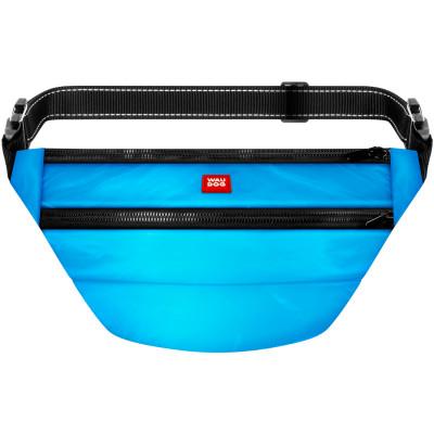 Поясная сумка-бананка WAUDOG Family со съемным ремнем, цвет голубой