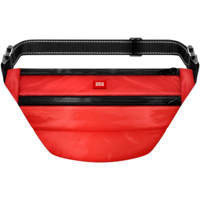 Поясная сумка-бананка WAUDOG Family со съемным ремнем, цвет красный