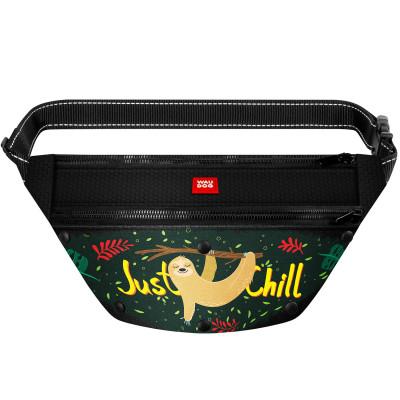 Поясная сумка-бананка WAUDOG с рисунком «Ленивец» для корма и аксессуаров