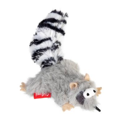Игрушка для котов Енот с кошачей мятой GiGwi Catch&scratch искусственный мех, кошачья мята, 8 см
