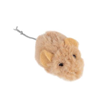 Игрушка для котов Мышка со звуковым чипом GiGwi Melody chaser, искусственный мех, 13 см
