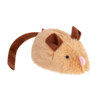 Игрушка для котов Интерактивная мышка GiGwi speedy Catch искусственный мех, 9 см