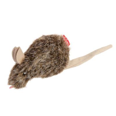 Игрушка для котов Мышка с кошачьей мятой GiGwi Catnip, искусственный мех, кошачья мята, 10 см