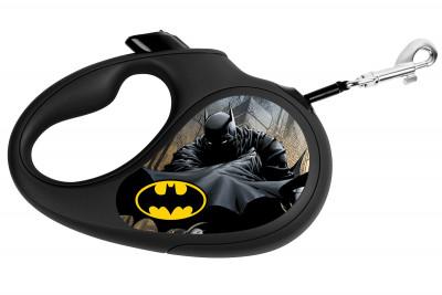 """Поводок-рулетка для собак WAUDOG с рисунком """"Бэтмен Черный"""""""