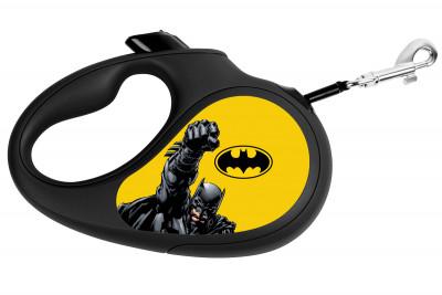 """Поводок-рулетка для собак WAUDOG с рисунком """"Бэтмен Желтый"""""""