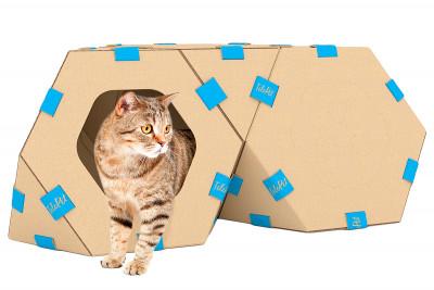 Модульный домик для котов TelePet - многофункциональный комплекс для игры и отдыха (Комплект из 3 штук)