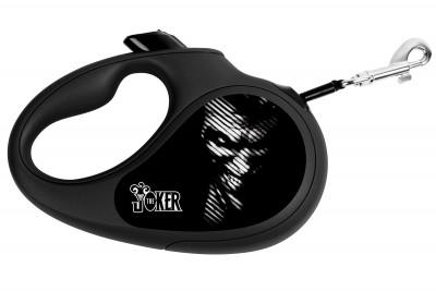 """Поводок-рулетка для собак WAUDOG с рисунком """"Джокер Черный"""""""