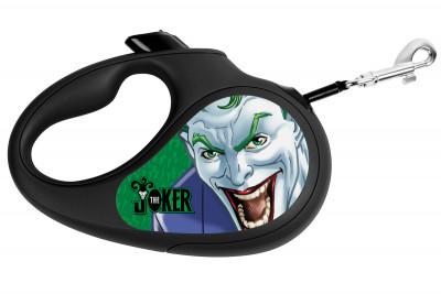 """Поводок-рулетка для собак WAUDOG с рисунком """"Джокер Зелёный"""""""