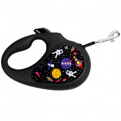 """Поводок-рулетка для собак WAUDOG с рисунком """"NASA"""""""