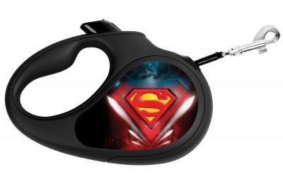 "Поводок-рулетка для собак WAUDOG с рисунком ""Супермен Лого"""